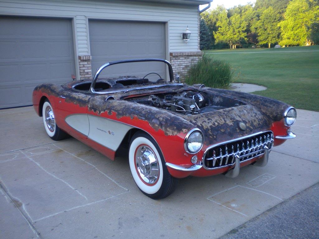 Corvettes On Ebay Burnt But Still Viable 1957 Corvette Fuelie