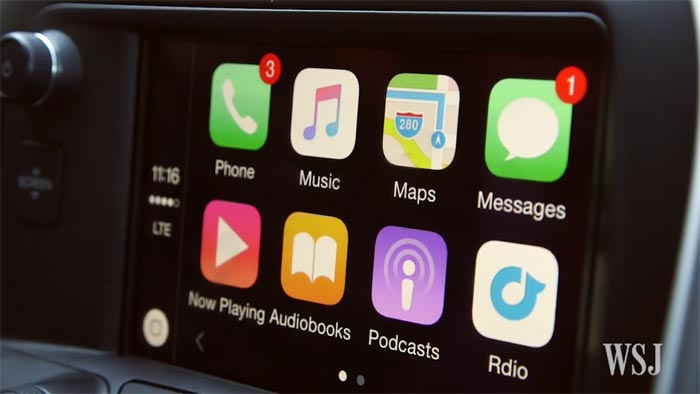 [VIDEO] Wall Street Journal Reporter Tests Apple CarPlay in 2016 Corvette Stingray