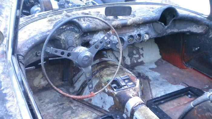 Corvettes on eBay: Burnt but Still Viable 1957 Corvette Fuelie