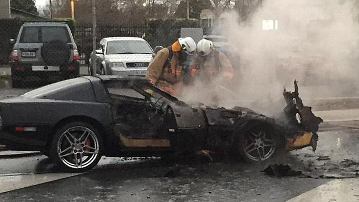 [ACCIDENT] C4 Corvette Catches Fire in Australia