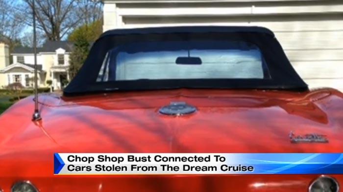 Detroit Cops Raid Chop Shop Suspected of Corvette Theft at the Woodward Dream Cruise