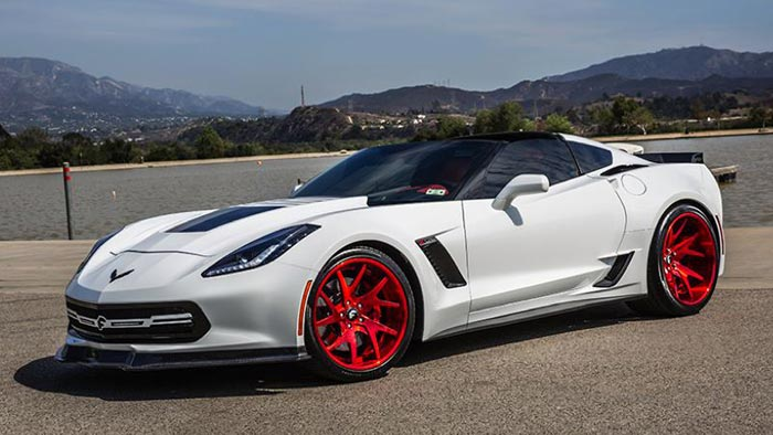 Pics Forgiato S 800 Hp Widebody Corvette Z06 With Custom Red Wheels