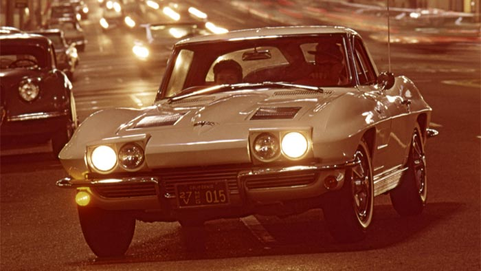 [PIC] Throwback Thursday: 1963 Corvette Sting Ray On the Streets at Night