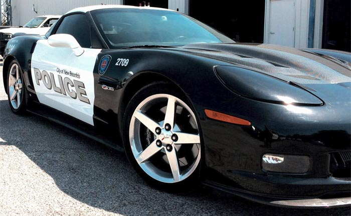 This Corvette Z06 Police Car Will Forever Be Known as Coptimus Prime