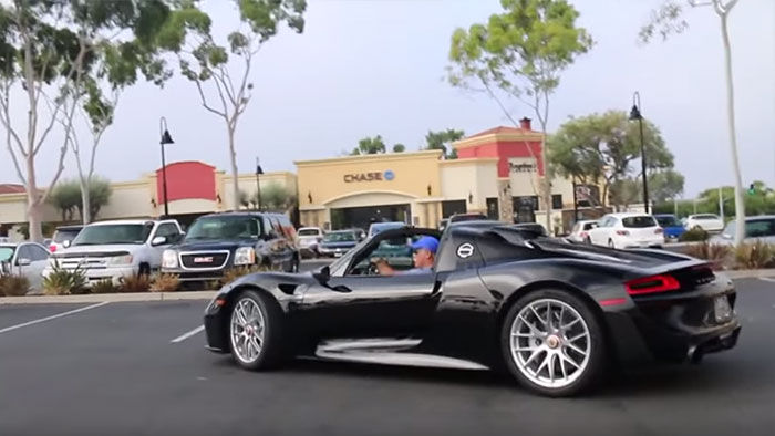 [VIDEO] Whoops! Woman Asks Porsche 918 Spyder Owner What Year His Corvette Is