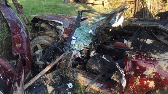 Corvette Driver and Passenger Critically Injured in Chain Reaction Crash