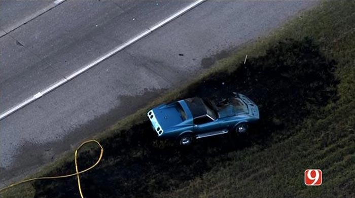 [ACCIDENT] Classic Corvette Catches Fire and Burns in Oklahoma