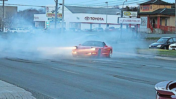 Canadian Corvette Driver Arrested For Donuts Loses License for a Year
