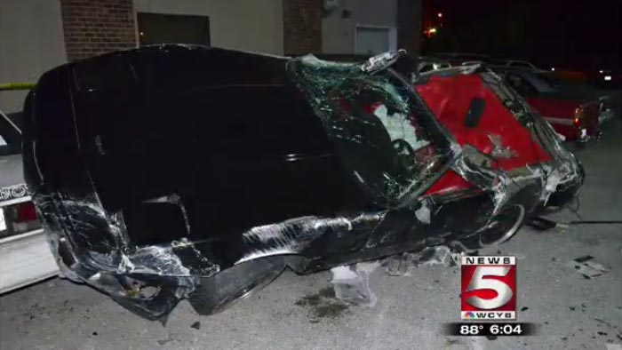 [ACCIDENT] DUI Corvette Driver Goes Airborn and Crashes into Seven Cars