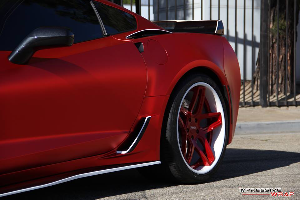 [PICS] C7 Corvette Z06 Receives Satin Red Chrome Wrap ...