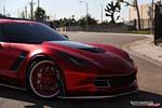 [PICS] C7 Corvette Z06 Receives Satin Red Chrome Wrap