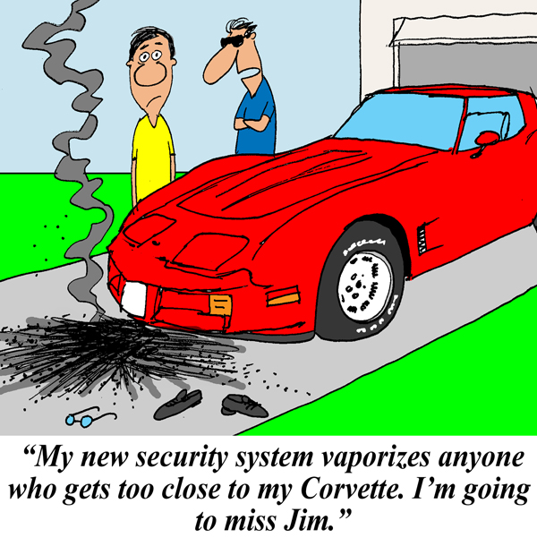 Saturday Morning Corvette Comic: Extreme Security Measures