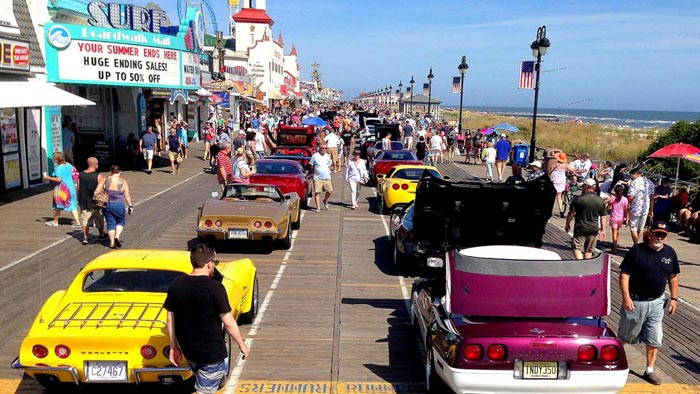 GALLERY Corvettes On The Boardwalk Show At Ocean City NJ - Car shows in nj