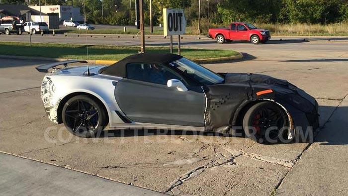 [VIDEO] 2018 Corvette ZR1 Convertible Prototype Captured Testing in Ohio