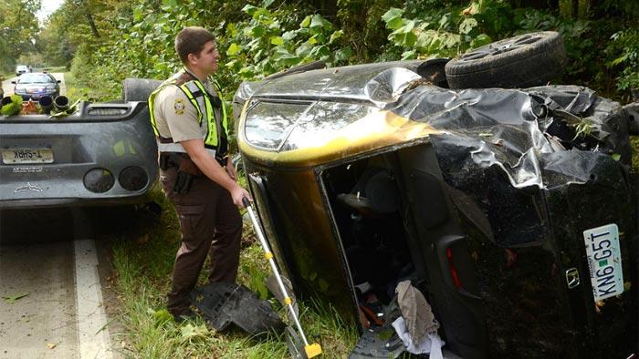 [ACCIDENT] Street-Racing C6 Corvette Rolls After Crash With Honda Civic