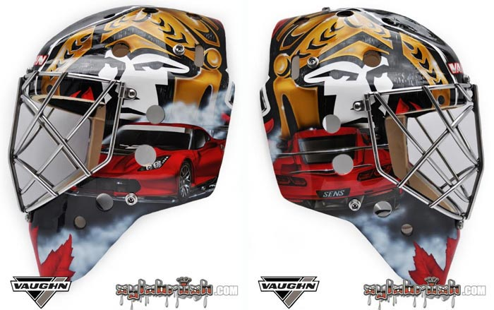 [PICS] Ottawa Senators Goalie Craig Anderson Shows Love of Corvettes with New Mask