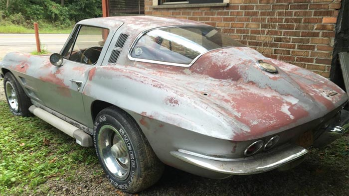 Corvettes On Craigslist Barn Find 1964 Corvette Sting Ray
