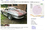 Corvettes on Craigslist: Barn Find 1964 Corvette Sting Ray Sport Coupe