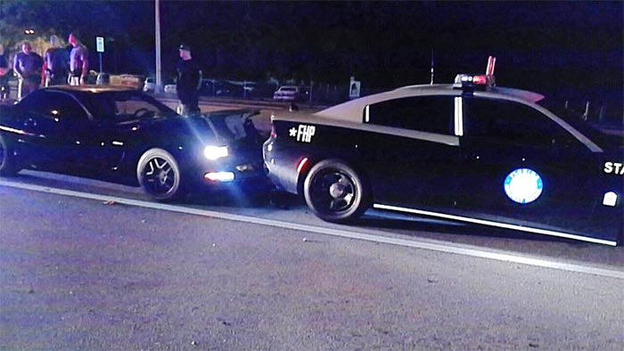 [ACCIDENT] DUI Corvette Driver Collides with Parked Florida Highway Patrol Cruiser