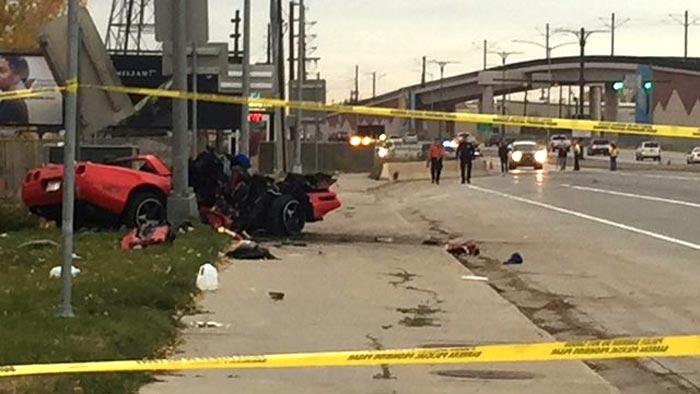 [ACCIDENT] Speeding C4 Corvette Crashes and Burns in Colorado