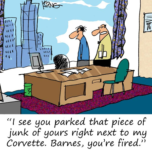 Saturday Morning Corvette Comic: Parking Issues