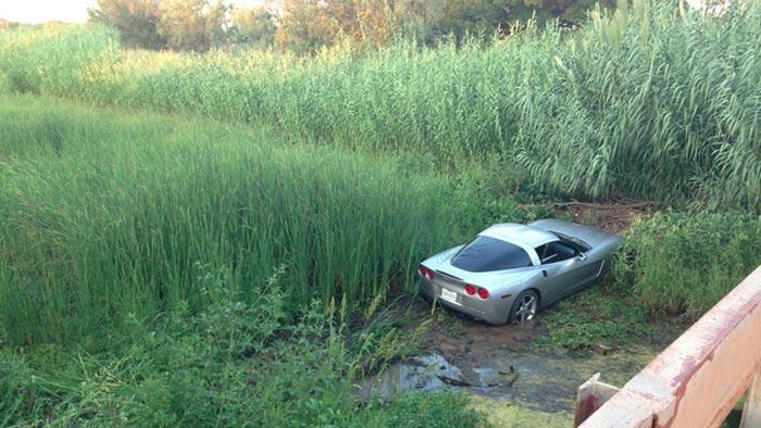 [ACCIDENT] Teenage Corvette Driver Crashes a C6 Corvette into a Creek