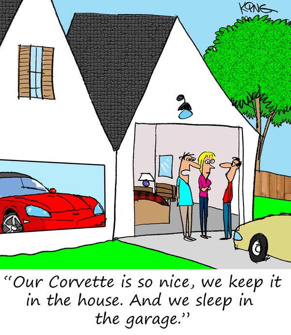 Saturday Morning Corvette Comic: Home is Where the Corvette is Parked