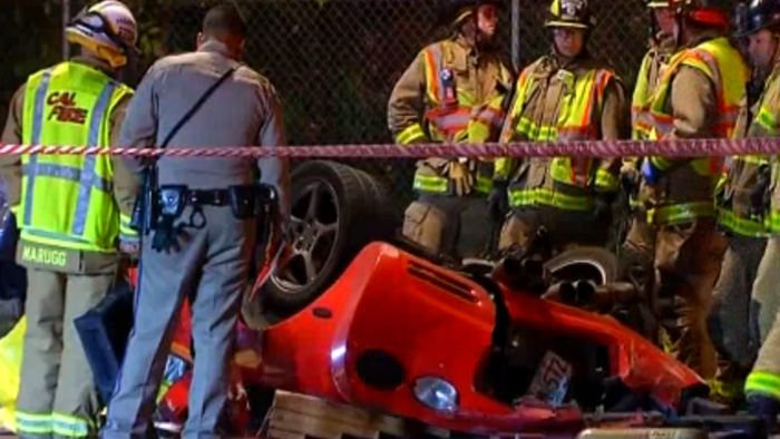 [ACCIDENT] 24-Year Old Driver Killed After C5 Corvette Plunges Off Highway Overpass