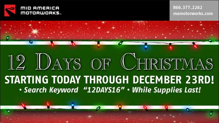 Mid America Motorworks Kicking Off their 12 Days of Christmas
