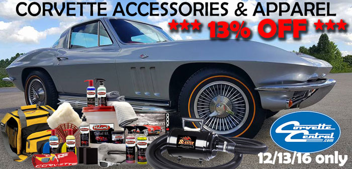 Save 13% on Corvette Accessories and Apparel at Corvette Central