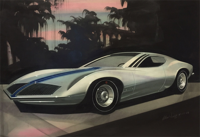 Detroit Art Exhibition to Feature Over 100 Vintage and New Corvette Drawings