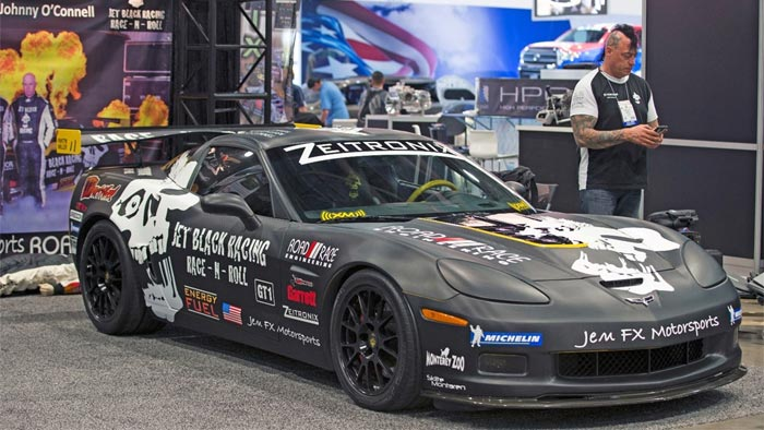 Corvettes on eBay: Custom 2006 Corvette Z06 Racer has Johnny O'Connell's Seal of Approval