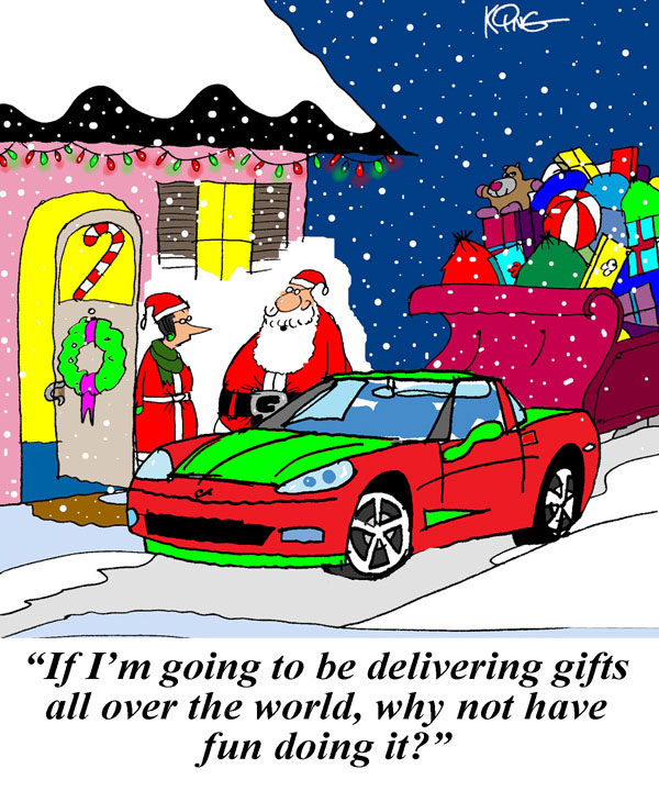 Saturday Morning Corvette Comic: Santa's Night of Fun