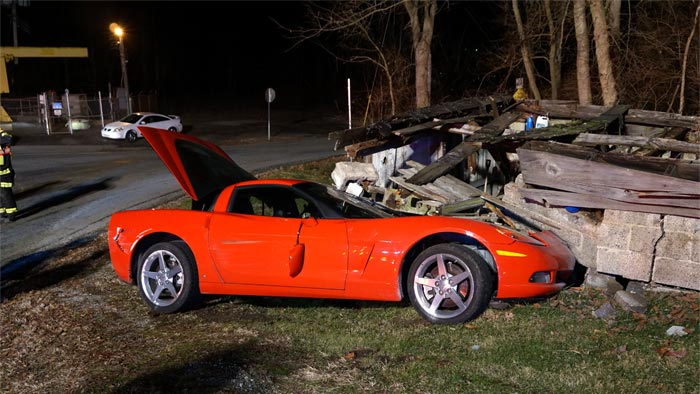 [ACCIDENT] Suspected DUI Driver Crashes Corvette into an Abandoned Garage