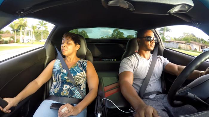 [VIDEO] Mom has a Priceless Reaction in her Son's C6 Corvette Z06