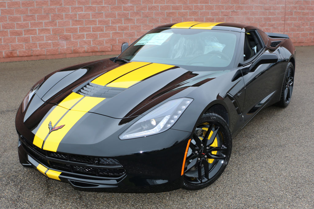 New Yellow Full Length Stripe Color For 2016 Corvettes