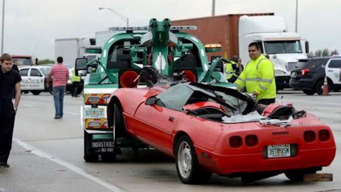 [ACCIDENT] Corvette Crash Shuts Down I-95 in South Florida