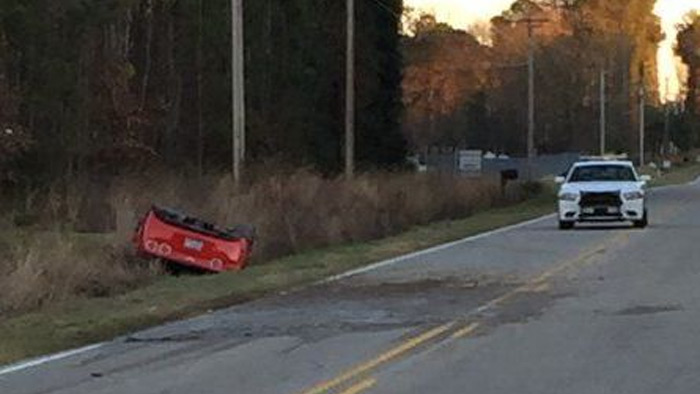 [ACCIDENT] Two People Ejected in Corvette Rollover Crash