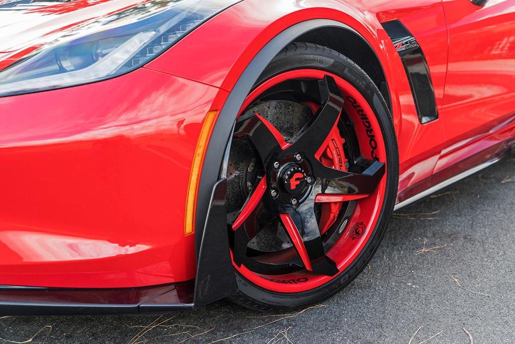 4920b2822f1d3 PICS  Red Hot Callaway Corvette Z06 Convertible on Forgiato Wheels ...