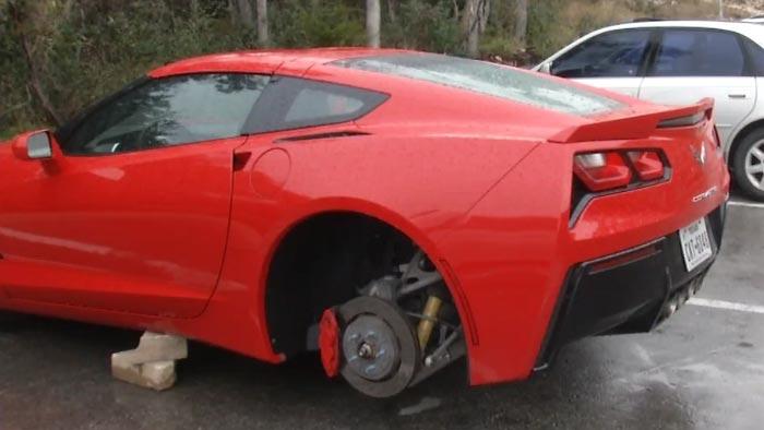 [VIDEO] Corvette Stingray's Wheels Stolen in San Antonio