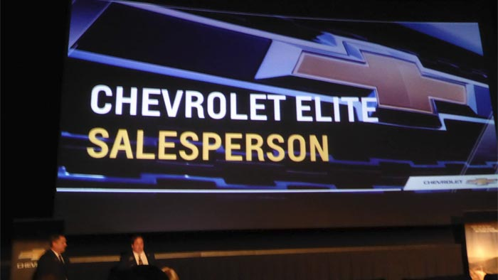 National Corvette Seller Mike Furman Honored at GM Dealer Meeting