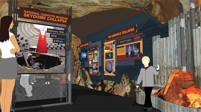Corvette Museum to Open Corvette Cave-In Exhibit on 2nd Anniversary of Sinkhole