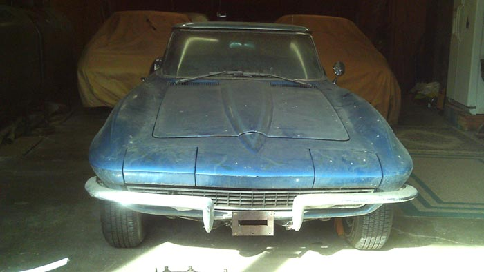 Corvettes on eBay: Barn Find 1965 Corvette Convertible