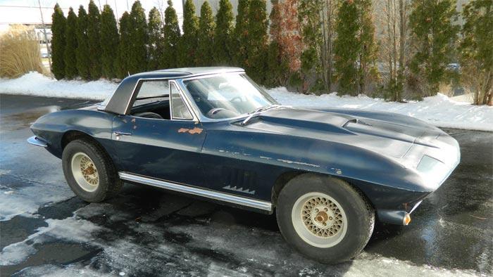 Corvettes on eBay: Barn Find 1963 Corvette with John Greenwood Built 427 V8