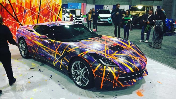 [PICS] C7 Corvette Stingray Serves as a Canvas in ART-of-Motion Exhibit