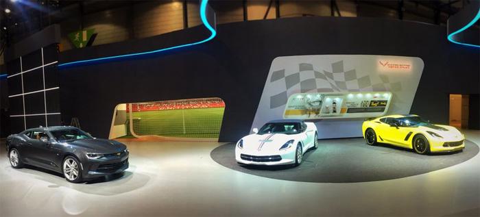 Corvettes and Camaro at the 2016 Geneva Motor Show