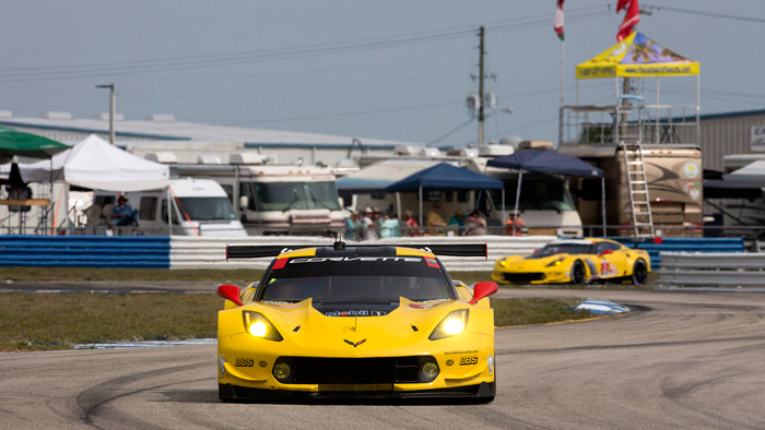 Corvette Racing at Sebring: Corvette C7.Rs in the Thick of GTLM Fight
