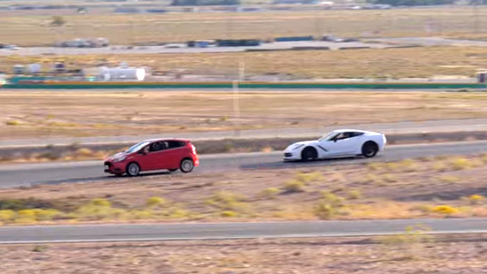 [VIDEO] Pro Driver vs Average Joe: Can a Ford Fiesta Outrun a Corvette Stingray?