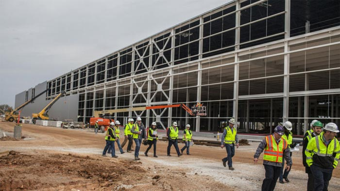 Milestone Reached in Construction of the Corvette Assembly Plant's New Paint Shop