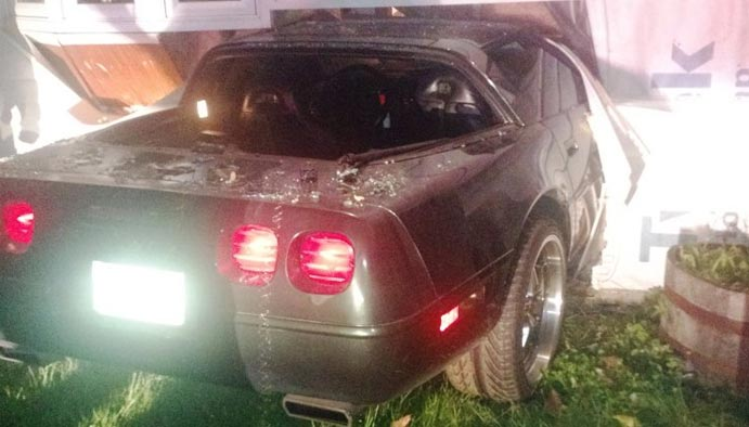 Man gets 146 Days in Jail for Crashing His Corvette into Girlfriend's Home